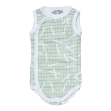 LODGER Romper Fold Over Sprinkle Print Leaf