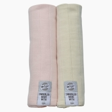 LODGER Swaddler Solid 2balení Soft-Skin/Ivory