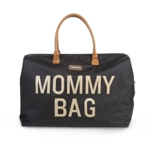 CHILDHOME Mommy Bag Big Black Gold