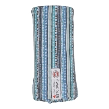 LODGER Swaddler Stripe Xandu 120 x 120 cm Dusty Turquoise