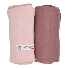 LODGER Swaddler Solid 2balení Sensitive/Plush