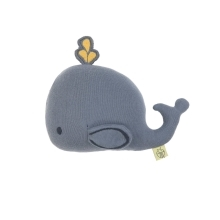 LÄSSIG Knitted Toy with Rattle/Crackle Little Water Whale