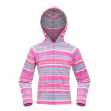 THE NORTH FACE Girls Glacier Striped Full Zip Fl. Linaria Pink