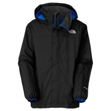 THE NORTH FACE Boys Resolve Jacket Black,Nautical Blue