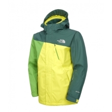 THE NORTH FACE Boys Skilift Triclimate Jacket Sulphur Green