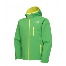 THE NORTH FACE Boys Softshell Jacket Flashlight Green