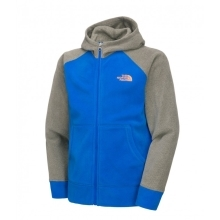 THE NORTH FACE Boys Glacier Full Zip Hoodie Blue/Grey