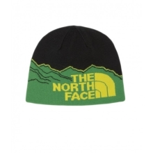 THE NORTH FACE Youth Corefire Beanie Black/Flashlight Green