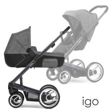 MUTSY Igo Reflect komplet s DÁRKEM! Dark Grey/White & Black