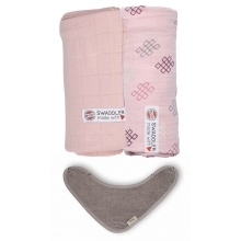 LODGER Swaddler 2 ks + TIMBOO Bandana Bib Sensitive/Sensitive