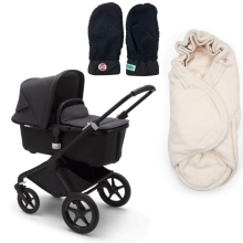 BUGABOO Fox2 Mineral complete Black/Washed Black + DÁRKY Black/Offwhite