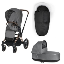 CYBEX Priam Kompletní set Rosegold/Manhattan Grey + dárek Fusak All Black