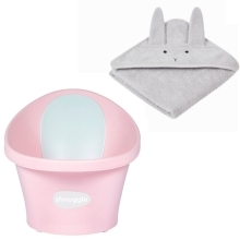 SHNUGGLE + LIEWOOD Výhodný set Rose/Rabbit Dumbo Grey