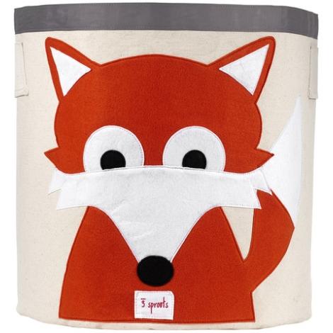 3 SPROUTS Storage Bin koš na hračky liška