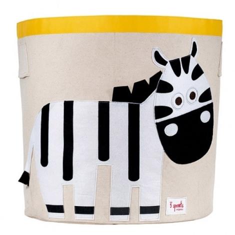 3 SPROUTS Storage Bin koš na hračky zebra