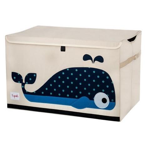 3 SPROUTS Toy Chest uzavíratelná bedýnka na hračky velryba