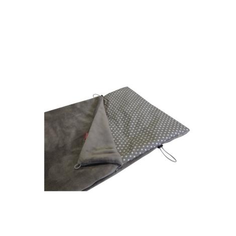 AESTHETIC Fusak jarní mikroplyš šedá střední/star bílá na šedé
