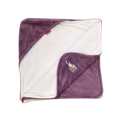 AESTHETIC Osuška s kapucí levandulová, bílá 95x95 cm