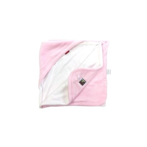 AESTHETIC Osuška s kapucí růžová, bílá 95x95 cm