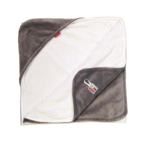 AESTHETIC Osuška s kapucí šedá, bílá 95x95 cm