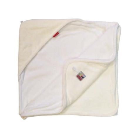AESTHETIC Osuška s kapucí smetanová, bílá 95x95 cm
