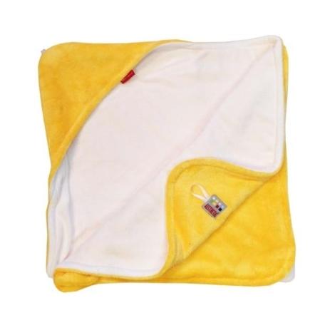 AESTHETIC Osuška s kapucí žlutá, bílá 95x95 cm