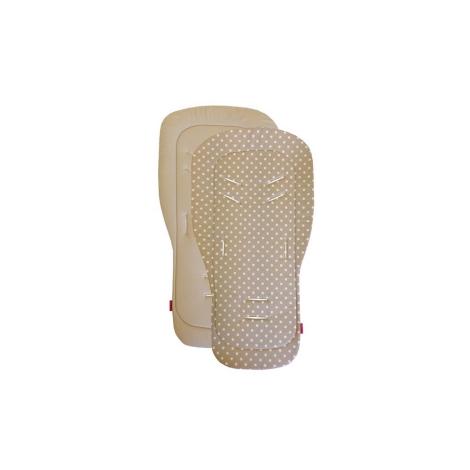 AESTHETIC Podložka do kočárku univerzální puntík bílý na béžové/béžová