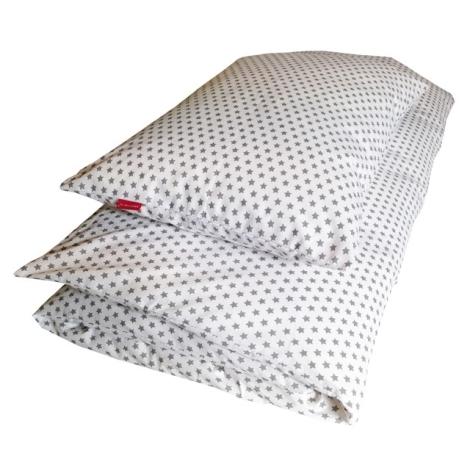 AESTHETIC Povlečení dětské Star šedá na bílé 100x135 cm