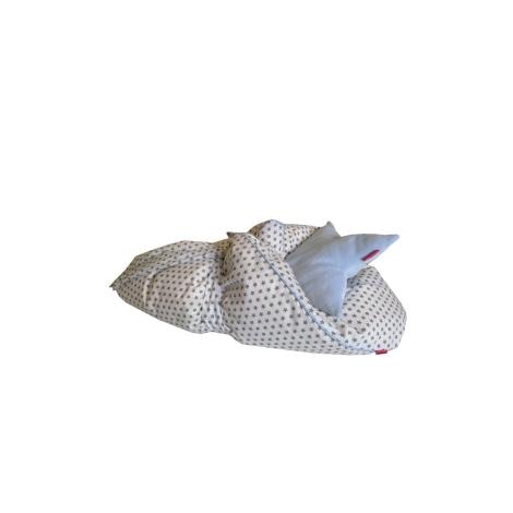 AESTHETIC Rychlozavinovačka péřová hvězdička šedá kluk 75x75 cm