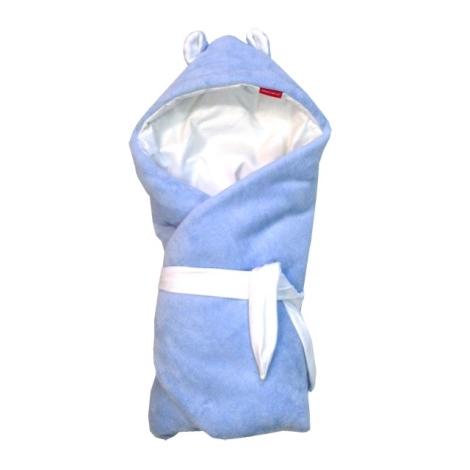 AESTHETIC Rychlozavinovačka s kapucí mikroplyš letní modrá