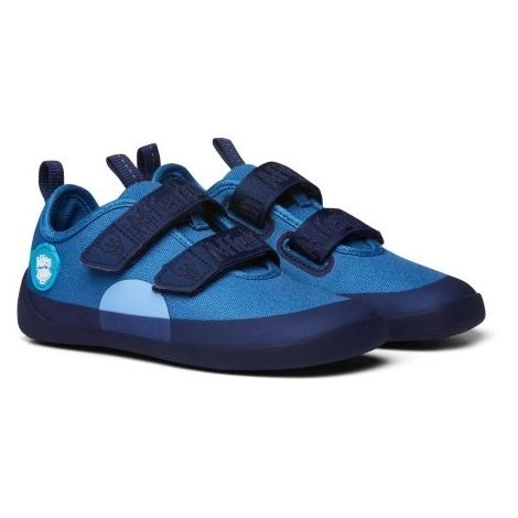 AFFENZAHN Dětské barefoot boty Cotton Sneaker Bear Blue vel. 28