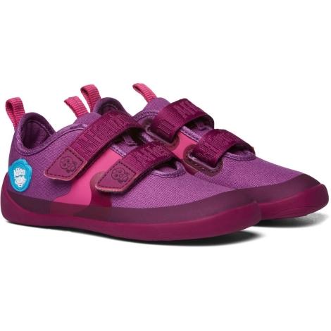 AFFENZAHN Dětské barefoot boty Cotton Sneaker Bird Berry vel. 28