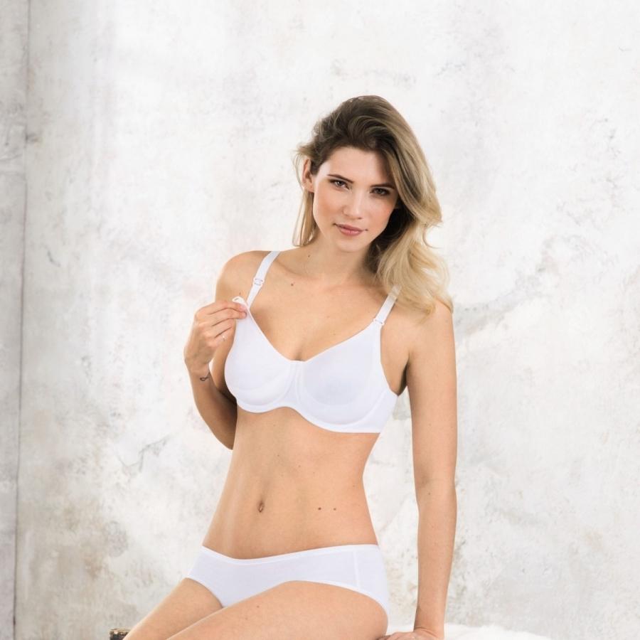 ANITA Basic podprsenka na kojení s kosticí 5036 bílá 80F  8d03108b08