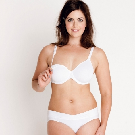 ANITA Basic podprsenka na kojení s kosticí a Spacer výztuží 5059 bílá 75D