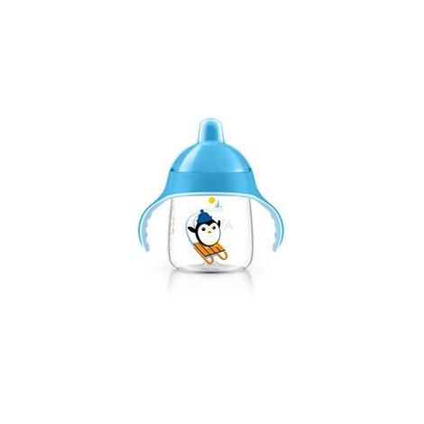 AVENT Hrníček pro první doušky Premium 260 ml modrá