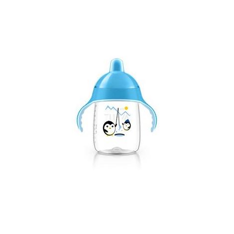 AVENT Hrníček pro první doušky Premium 340 ml modrá