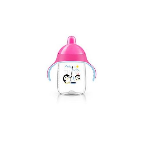 AVENT Hrníček pro první doušky Premium 340 ml růžová