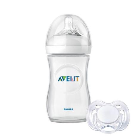 AVENT lahev 260ml Natural PP + šidítko bílé 0-6m
