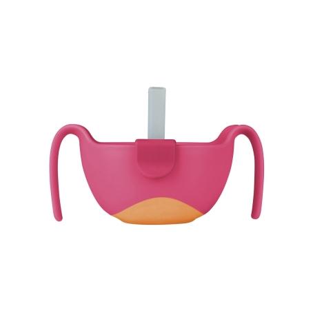 B.BOX Miska s brčkem růžová