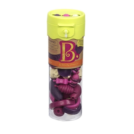 B.TOYS Spojovací korále a tvary Beauty Pops 50 ks fialové/růžové