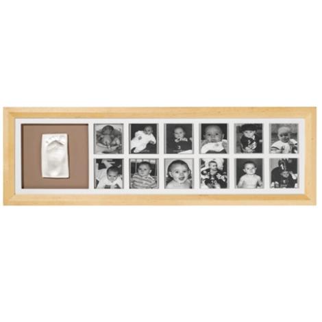 BABY ART Timeless Classic 1st Year Print Frame béžový