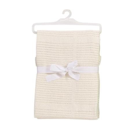 BABY DAN bavlněná háčkovaná deka béžová NEW