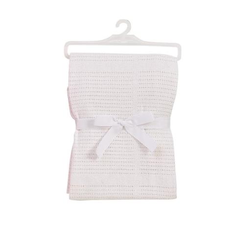 BABY DAN bavlněná háčkovaná deka bílá NEW