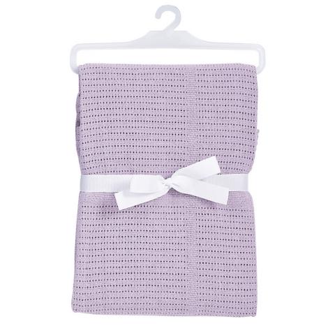 BABY DAN bavlněná háčkovaná deka lila NEW