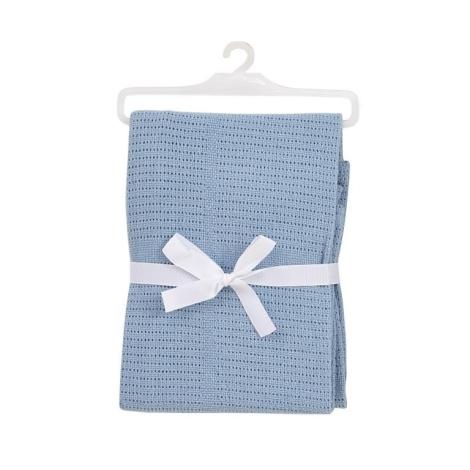 BABY DAN bavlněná háčkovaná deka světle modrá NEW