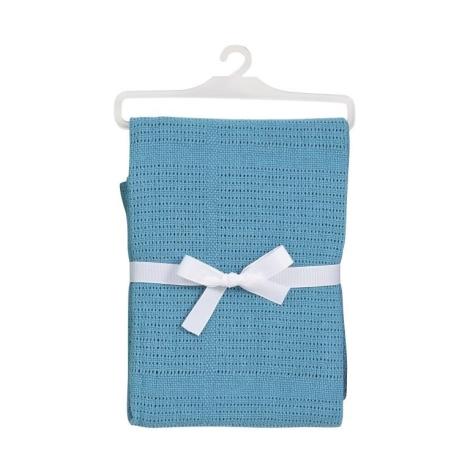 BABY DAN bavlněná háčkovaná deka tyrkysová NEW