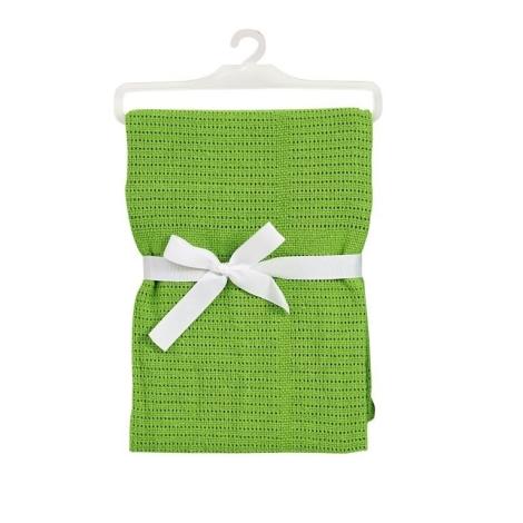 BABY DAN bavlněná háčkovaná deka zelená NEW
