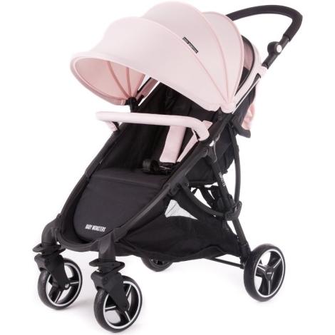 BABY MONSTERS Sportovní kočárek Compact + Colour pack světle růžový
