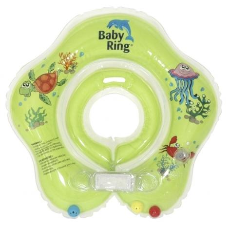 BABY RING kruh na koupání 0 - 24 měsíců zelená