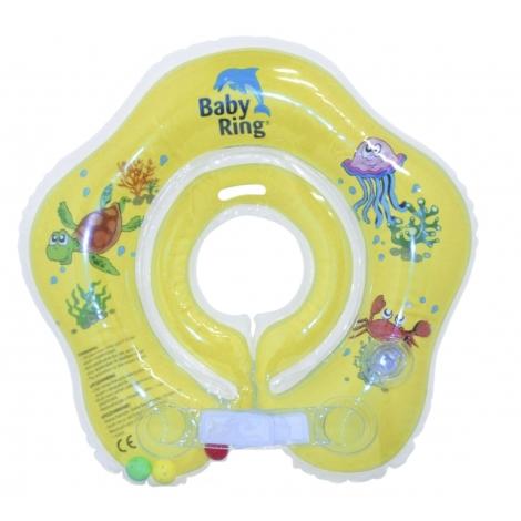 BABY RING kruh na koupání 0 - 24 měsíců žlutá